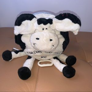Babystyle COW soft book and musical plush New